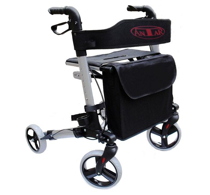 Łóżka rehabilitacyjne - chodzik czterokołowy aluminiowy ANTAR