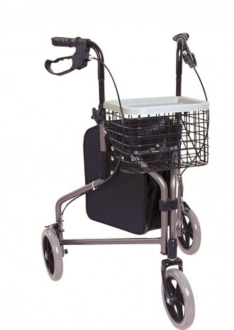 Łóżka dla chorych - chodzik aluminiowy trójkołowy Antar