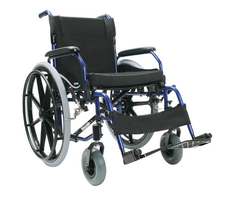 Łóżka dla chorych - wózek inwalidzki aluminiowy Soma