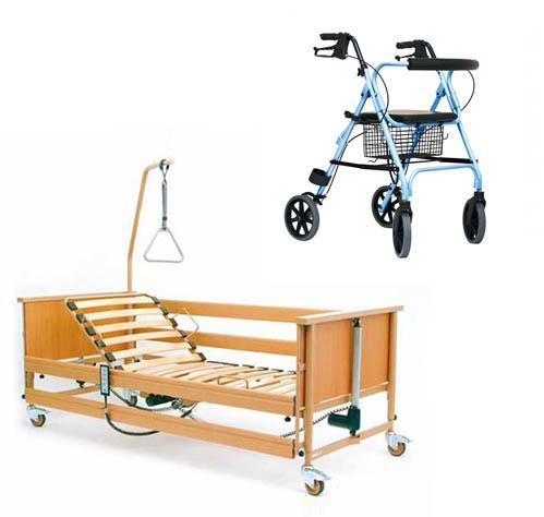 Łóżka rehabilitacyjne - zestaw łóżko rehabilitacyjne i chodzik