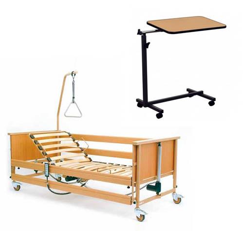 Łóżka dla chorych - zestaw łóżko rehabilitacyjne i stolik