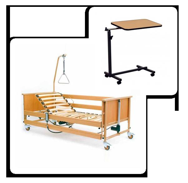 Łóżka rehabilitacyjne - zestaw łóżko rehabilitacyjne i stolik