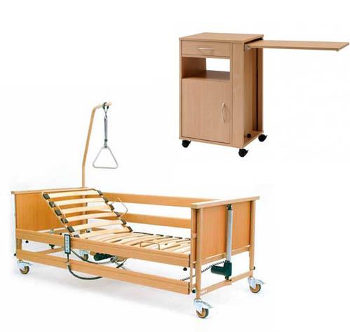 Łóżka rehabilitacyjne - zestaw łóżko rehabilitacyjne i szafka